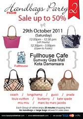 LuxuryComeTrue Handbags Party 2! 29 Oct 2011