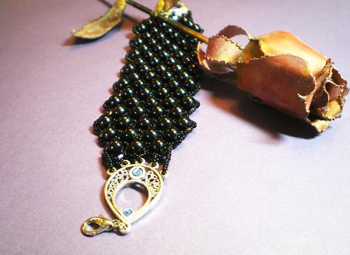 Mina's Victorian Gothic Bracelet (Black Art Noveau Bracelet)