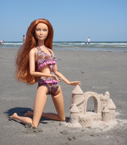 Barbie Builds Castles In The Sand