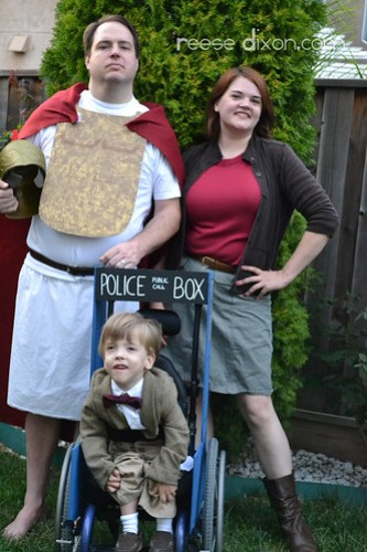 Rory the Roman, Amy Pond, and the Doctor