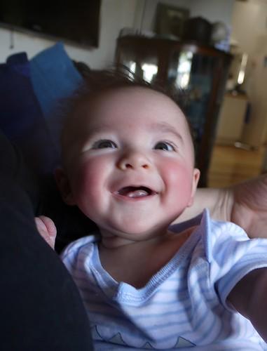 Eskil Laughing at Mummy