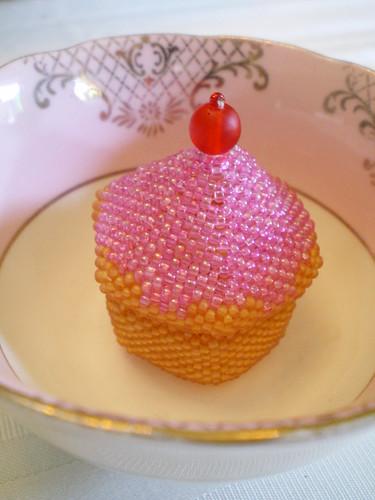 Cupcake Beaded Box