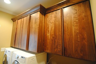 Black Walnut Laundry room cabinets