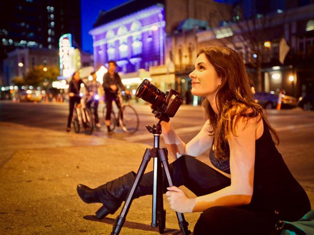 Lisa Bettany night shoot in Austin