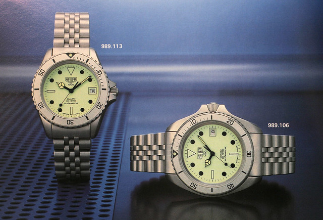 Heuer 989.113L in the 1985 catalogue