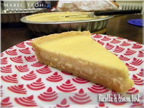 Ricotta & lemon tart