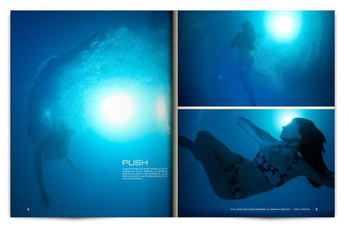 Design Project: Underwater Magazine Spread - pgs. 4 & 5