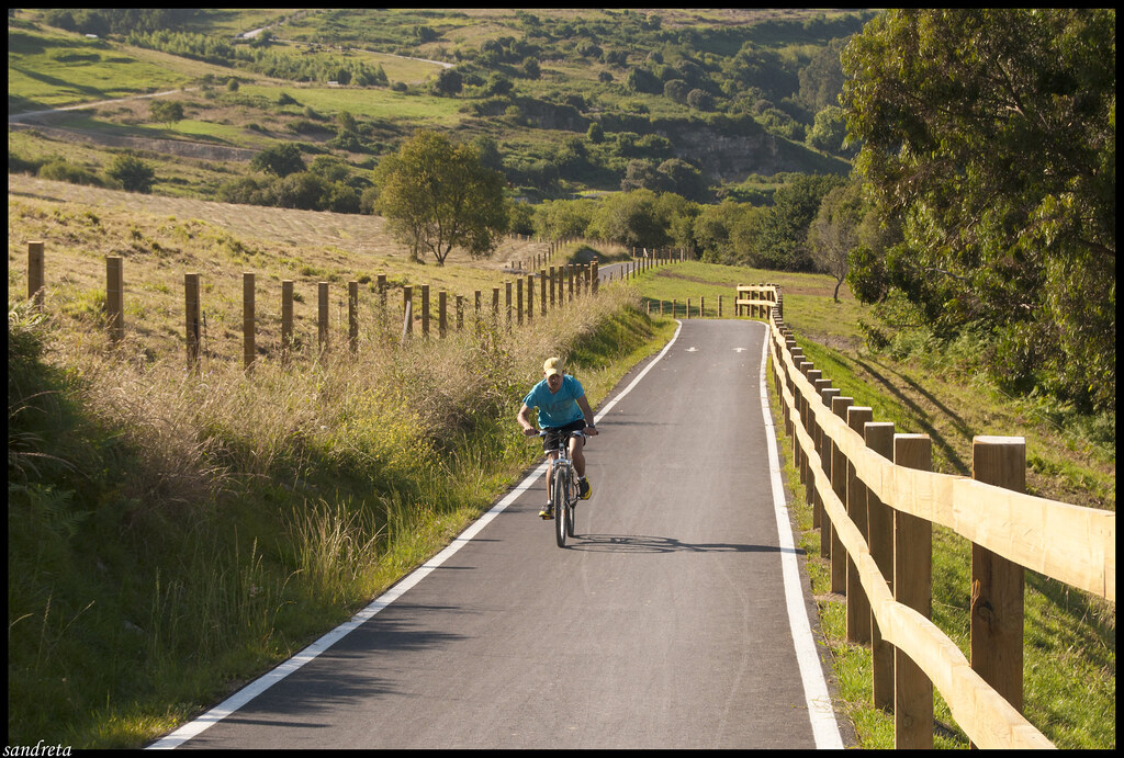 Paseando en bicicleta