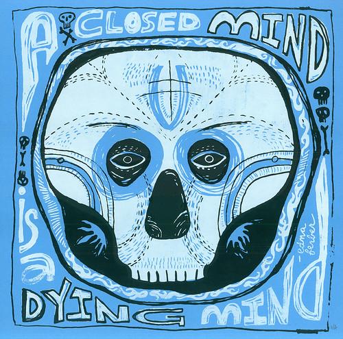 """closed"" print/mask"