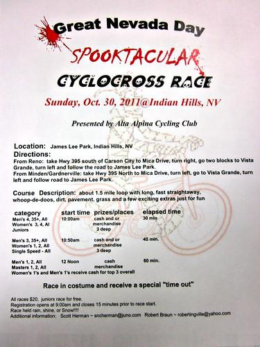 Spooktacular Cyclocross Race