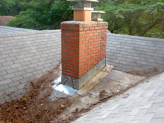 roof, never-before-seen post-addition chimney ...