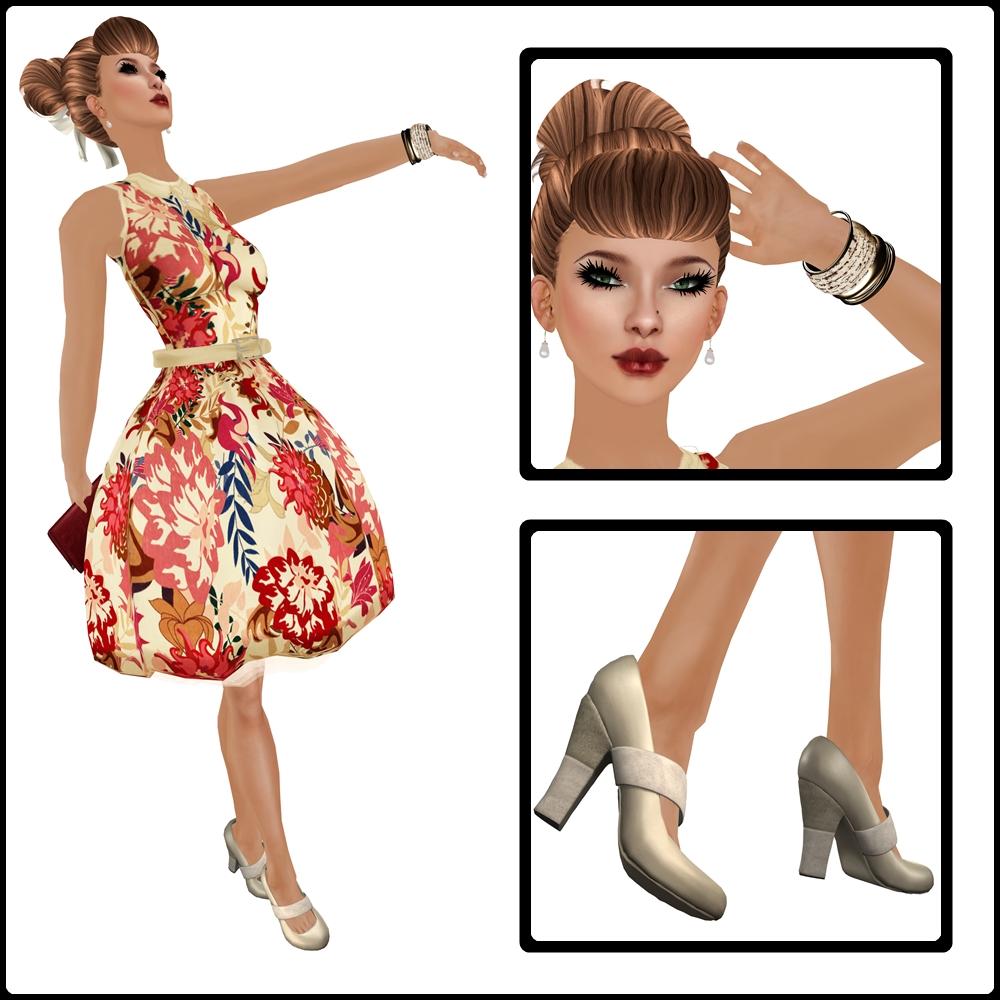 50s Party Dress Composite 1