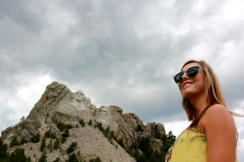 Jamie at Mt. Rushmore.