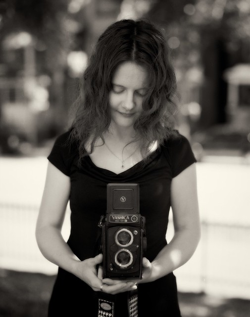 Natalie and her Yashicamat 124G