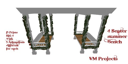 VM Projects ~ 4 Seater Summer Bench