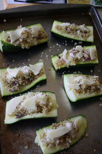quinoa stuffed zucchini boats
