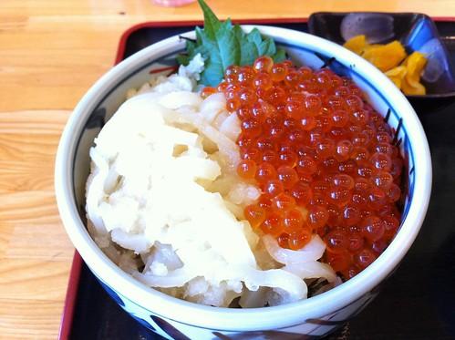 5日目夕食1いかイクラ丼