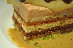 dessert detail: gateau aux chocolats, sauce café