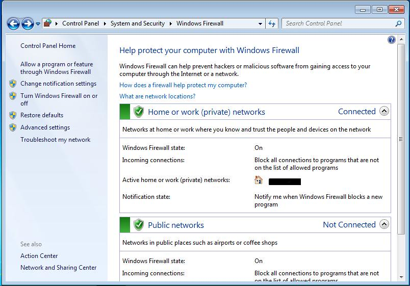 how to stop firewall in windows 7