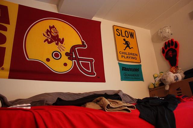 Brock's dorm room