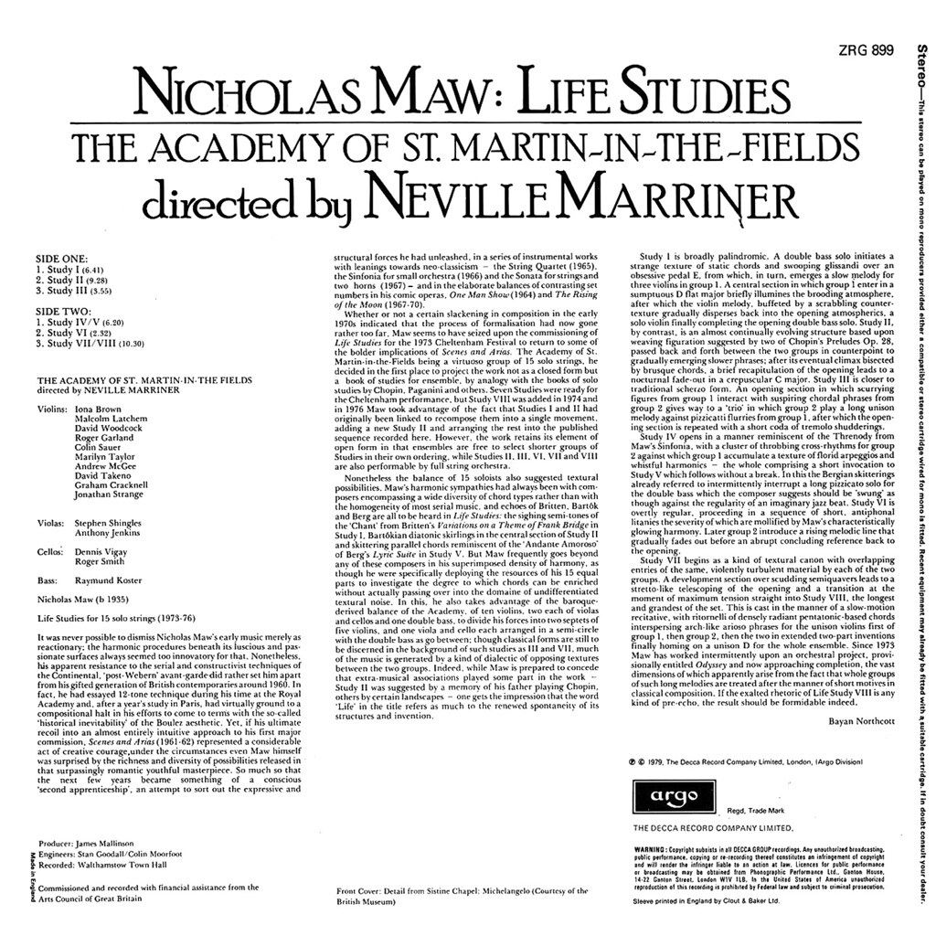 Nicholas Maw - Life Studies