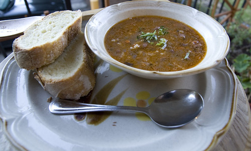 Veneto-Style Pinto Bean and Rice Soup with Rustic White Bread