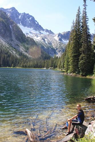 Scott at Stuart Lake for Lunch