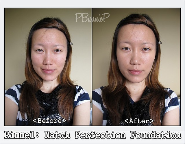 Rimmel Match Perfection [before/after]