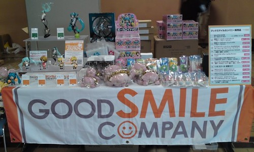 Vocaloid goodies at GSC's booth
