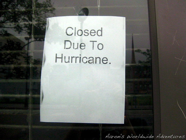 Closed Due to Hurricane