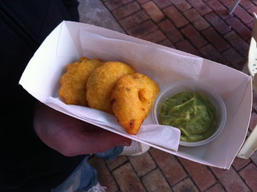 Marcelita's Colombian Oyster, Beef & Pork Empanadas at Mondo Markets
