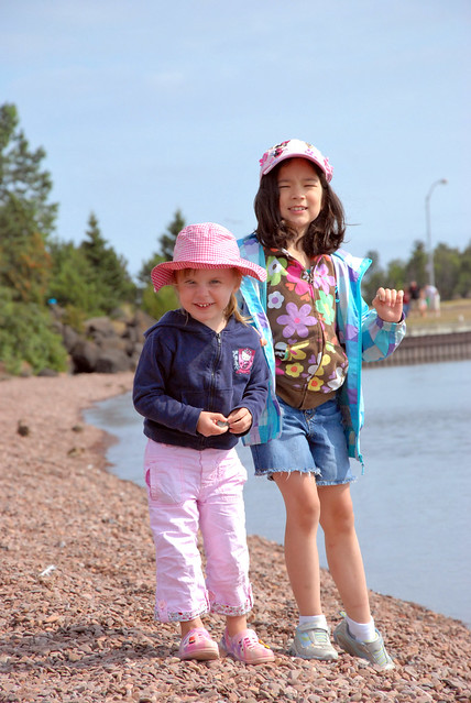 chaeli and my niece in grand marais