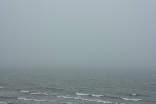 A foggy morning at the sea