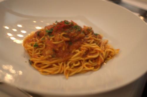 Crystal Bay prawns spaghetti