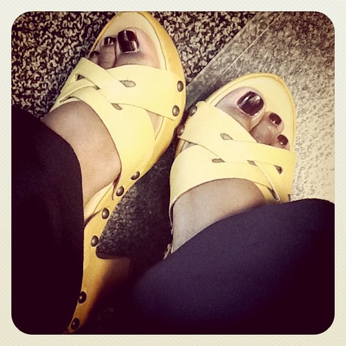 Here's hoping my yellow shoes will perk up my morning