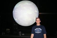 Sean with moon exhibit