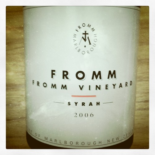 Fromm Vineyard Syrah 2006, Marlborough, NZ