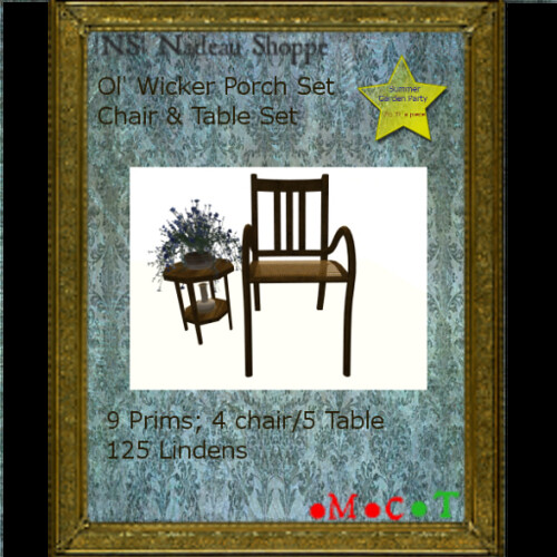 Nadeau Shoppe: Ol' Wicker Set