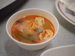 Tom Yam Seafood Soup, Somboon Seafood, Surawong