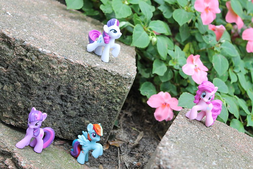 225/365 Twilight Sparkle, Rainbow Dash, Pinkie Pie and Rarity MLP toys