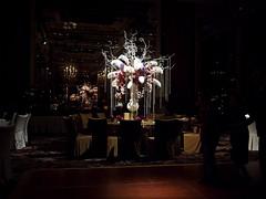 Table Flower Arrangements at Wedding Dinner