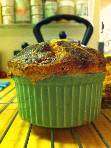 Ramekin-sized apple cake