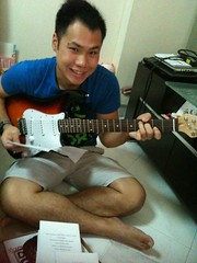 Trying Out The Electric Guitar