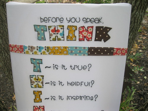 before you speak