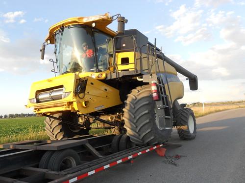 Unloading combine