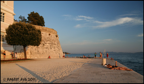 beach under the city walls