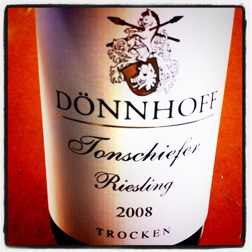 Donnhoff Tonschiefer Riesling Trocken 2008 by mengteck