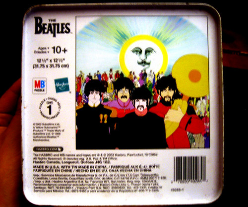 20110806 - yard sale booty - The Beatles - Yellow Submarine - metal box - 3 - back - IMG_3423