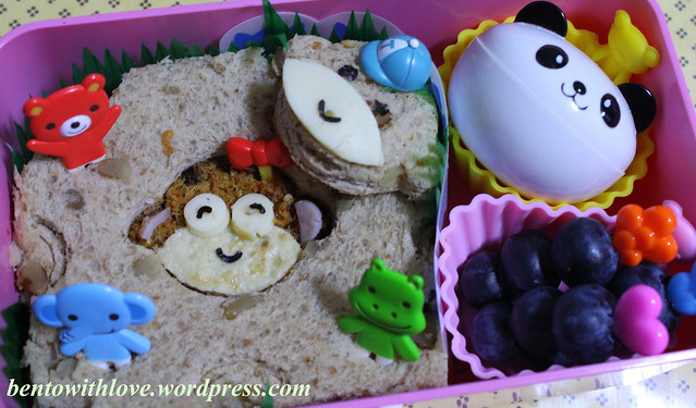 Sis and Bro Monkeys Bento