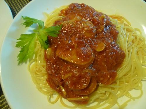 Italian sausage pomodoro pasta